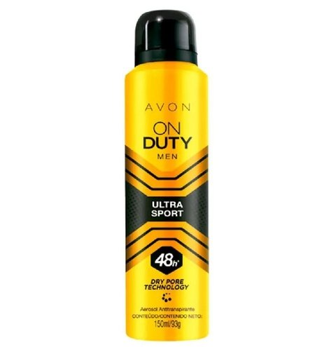 Men Ultra Sport Desodorante Aerossol Masculino 150ml [On Duty - Avon]