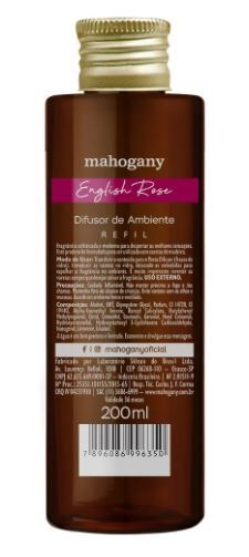 Refil de Difusor de Ambiente English Rose 200ml [Mahogany]