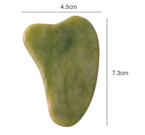 Gua Sha Massageador Facial Anti Rugas de Jade