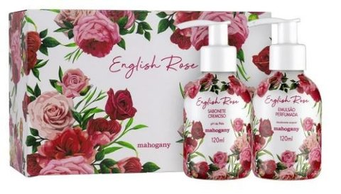 Kit English Rose Sabonete e Hidratante 120ml [Mahogany]