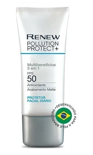 Protetor Facial Diário Pollution Protect + FPS 50 Multibenefícios [Renew - Avon]
