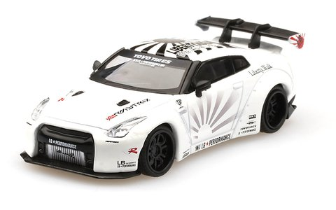 Mini GT 1:64 Nissan GT-R R35 Type 2 Rear Wing ver 3 Branco