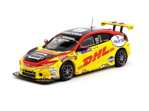 Tarmac 1:64 Honda Civic Type R TCR WTCR Race of Macau 2018 Tom Coronel