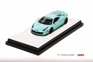 PRÉ VENDA TP 1:64 Ferrari 458 Ducktail Liberty Walk Mint Green
