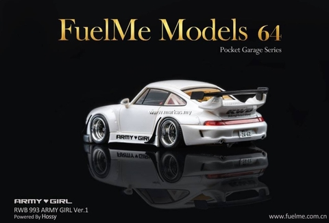 FuelMe 1:64 RWB 993 Army Girl White Asa Baixa