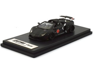 PC Club 1:64 Lamborghini Aventador Roadster Zero Fighter Preto Fosco