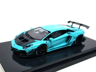 JEC 1:64 LB Performance Lamborghini LP700-4 Aventador 2.0 Wide Body - Tiffany Blue