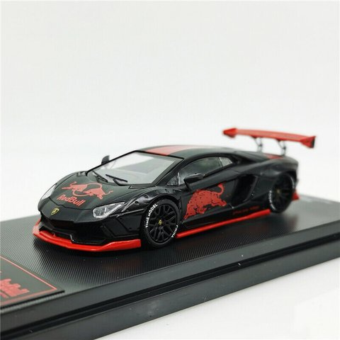 Time Model 1:64 Lamborghini Aventador Red Bull Preto Fosco