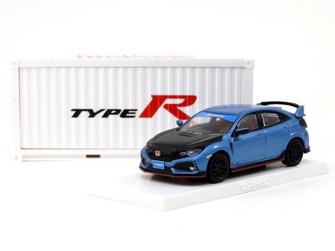 Tarmac 1:64 Honda Civic Type R FK8 Brilliant Blue / Black Bonnet