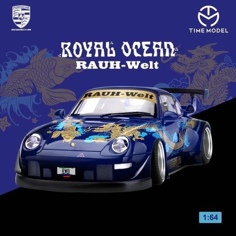Sinal 100% PRÉ VENDA Time Model 1:64 Porsche RWB 993 Royal Ocean