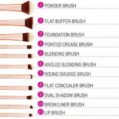 BH COSMETICS - Metal Rose 11 Piece Brush Set with Bag en internet