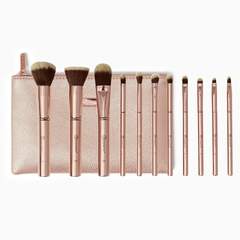 BH COSMETICS - Metal Rose 11 Piece Brush Set with Bag
