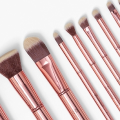 BH COSMETICS - Metal Rose 11 Piece Brush Set with Bag - Vanity Shop
