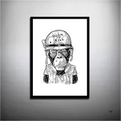 POSTER MONKEY BORN TO KILL - MACACO