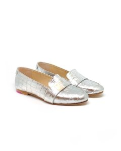 Mocasin Polly Plata Super Bow (Desmontable) en internet