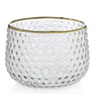 Bowl decorativo puntos borde dorado - Conceptual
