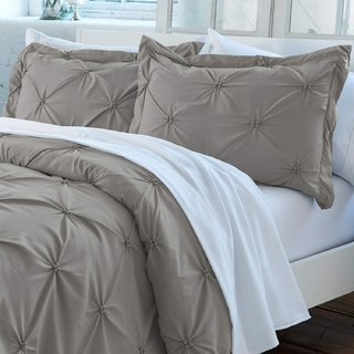 Duvet cover pinzado Gris Queen o King