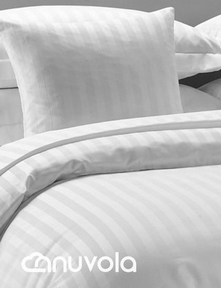 Duvet cover 300 hilos blanco, Doble - Nuvola