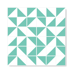"M² ""Raiz"" Light Green Ceramic Tiles - Lurca"