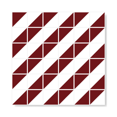 "Image of M² ""Raiz"" Burgundy Ceramic Tiles"