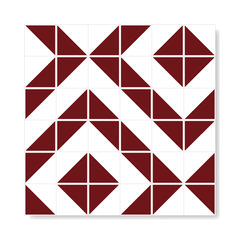 "M² ""Raiz"" Burgundy Ceramic Tiles - buy online"
