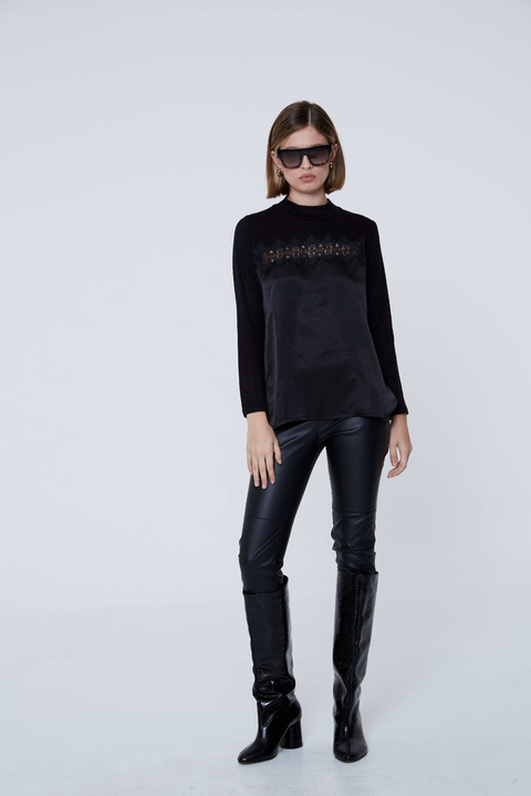 SWEATER ROCAMORA NEGRO - Paris by Flor Monis