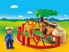 Playmobil 1 2 3 Recinto Leones 9378 - Kids Point