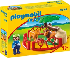 Playmobil 1 2 3 Recinto Leones 9378