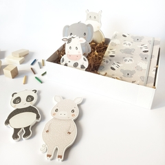 GIFT BOX KIDS ☼ COLORING & BATH in GREY