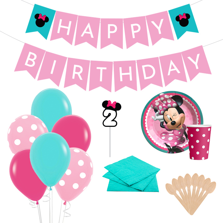 Kit de Fiesta Minnie Rosada