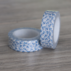 Washi Tape Fondo Blanco con Mini Anclas Azules