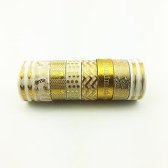 Washi Tape Gold Set x 8 Rollos