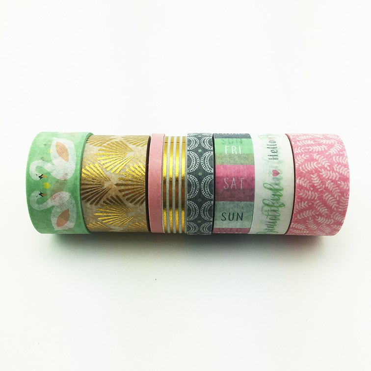 Washi Tape Hello Beautiful Set x 8 Rollos