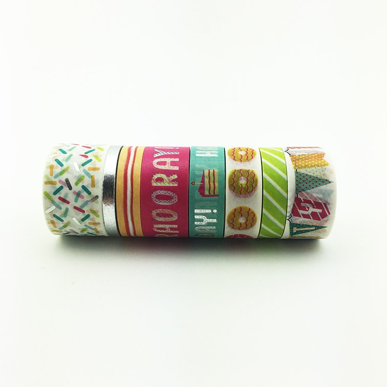Washi Tape Hooray Set x 8 Rollos