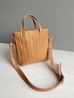 Mini tote Pen brandy - Boris Handbags