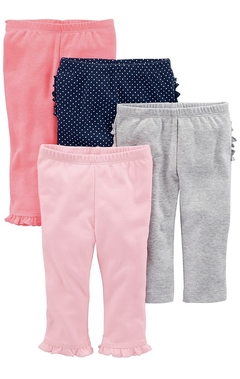 Kit 4 calças Cotton Simple of Joys By Carters - SJ6040 - Tamanho RN