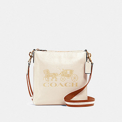 Bolsa Crossbody Coach Horse Carriage - Off White