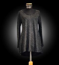 Sweater CYNDI negro con blanco - Brilla Dark