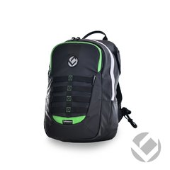 MOCHILA HOCKEY BRABO Elite Black Green - IMPERMEABLE