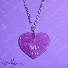 Collar I Purple You brillos - BTS