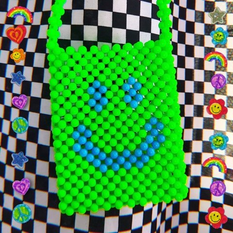 Mini Beads - Smiley Verde Neon