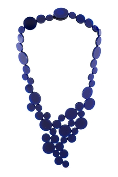 Collar Abstraction V Metallics - Azul - comprar online