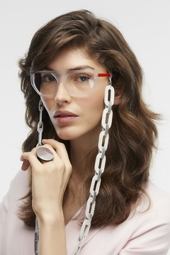Cadenas para Gafas Rainbow Chain - for Eyeglasses - Plata & Blanco