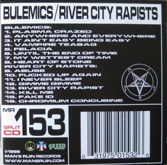 BULEMICS / river city rapists - Split CD - importado!