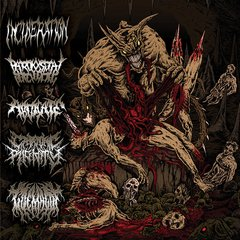 Incineration, Paroxysmal Butchering, Abdicate, Catatonic Rigidity, Goemagot ‎– Horrendous Forms Of Human Ruination - Split CD ( Importado )