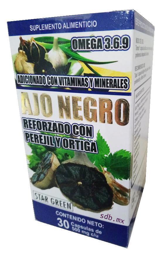 Ajo Negro Reforzado Con Perejil Y Ortiga