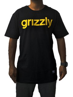 Camiseta Grizzly Lowcase Blk/Gld