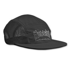 Boné 5panel thrasher skate flame outline