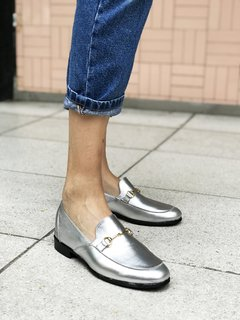 ZAPATO FLORENCE ENTERO PLATA 39 - Camelia Shoes