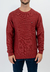 Sweater Base Punto Arroz Borravino - comprar online